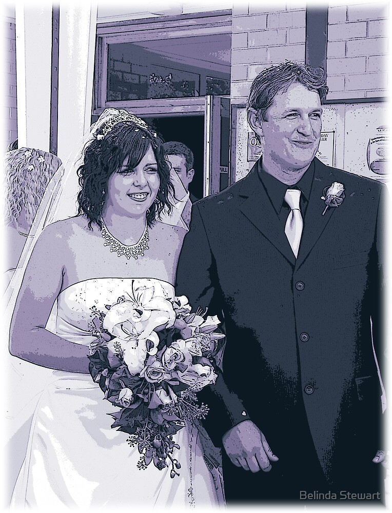 wedding purples by Belinda Stewart
