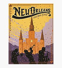 New Orleans The Big Easy Vintage Travel Poster Photographic Print