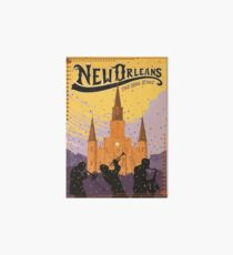 New Orleans The Big Easy Vintage Travel Poster Art Board