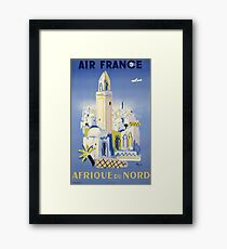 AIR FRANCE AFRIQUE DU NORD Framed Print