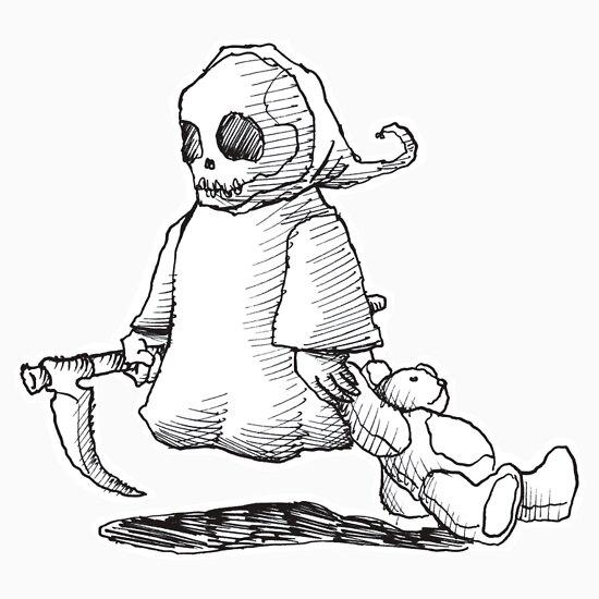 TShirtGifter presents: death and teddy 1