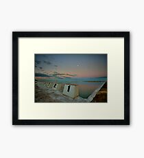 Merewether Baths at Dusk 8 Framed Print