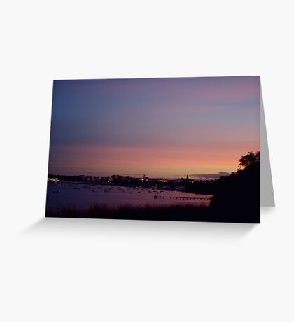 Geelong Sunset Greeting Card