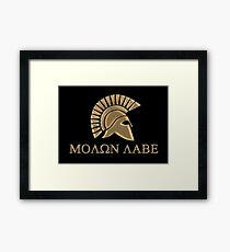 Molon labe-Spartan Warrior Framed Print