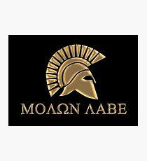 Molon labe-Spartan Warrior Photographic Print