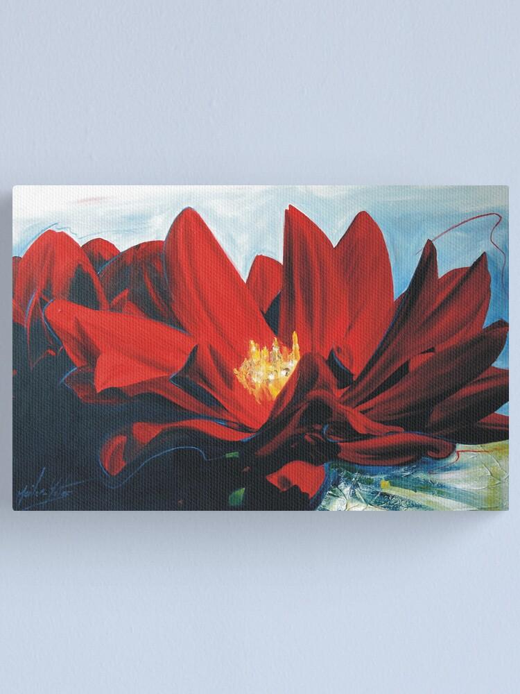 Alternate view of Red Dahlia Canvas Print