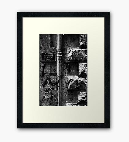 Stop Valve Framed Print