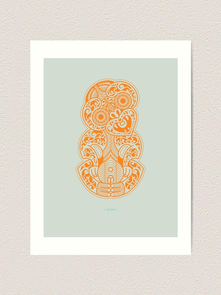 Alternate view of Hei Tiki Art Print