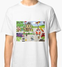 "Comical cats ""Summers Coming"" Classic T-Shirt"