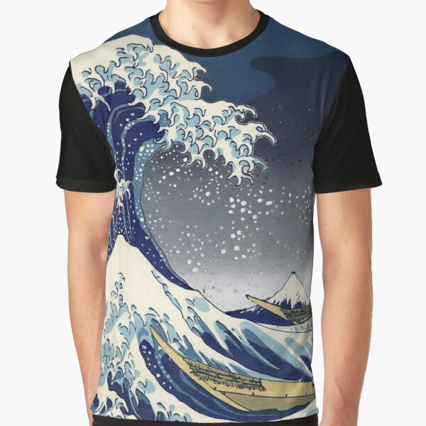Great Wave: Kanagawa Night Graphic T-Shirt
