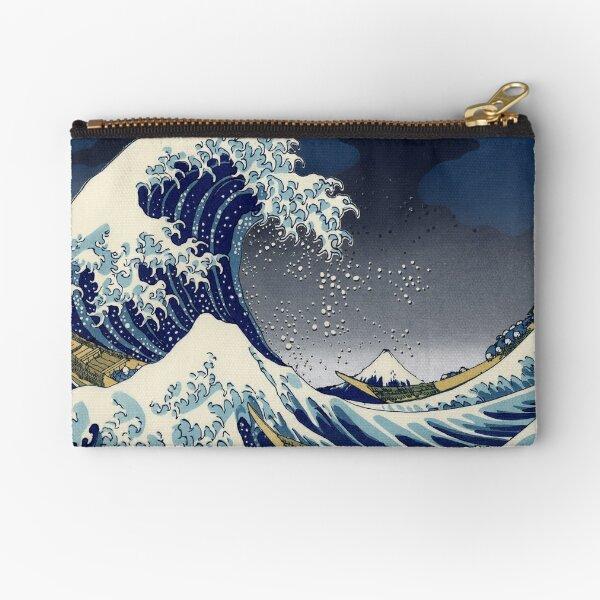 Great Wave: Kanagawa Night Zipper Pouch