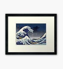 Lámina enmarcada Gran ola: noche de Kanagawa