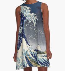 Große Welle: Kanagawa-Nacht A-Linien Kleid