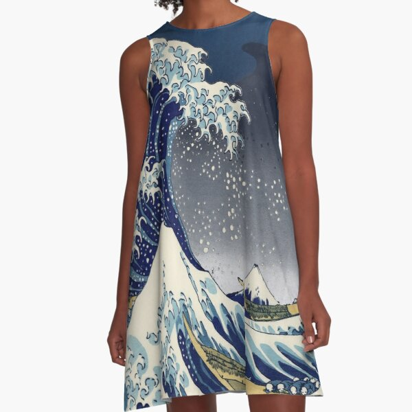 Great Wave: Kanagawa Night A-Line Dress