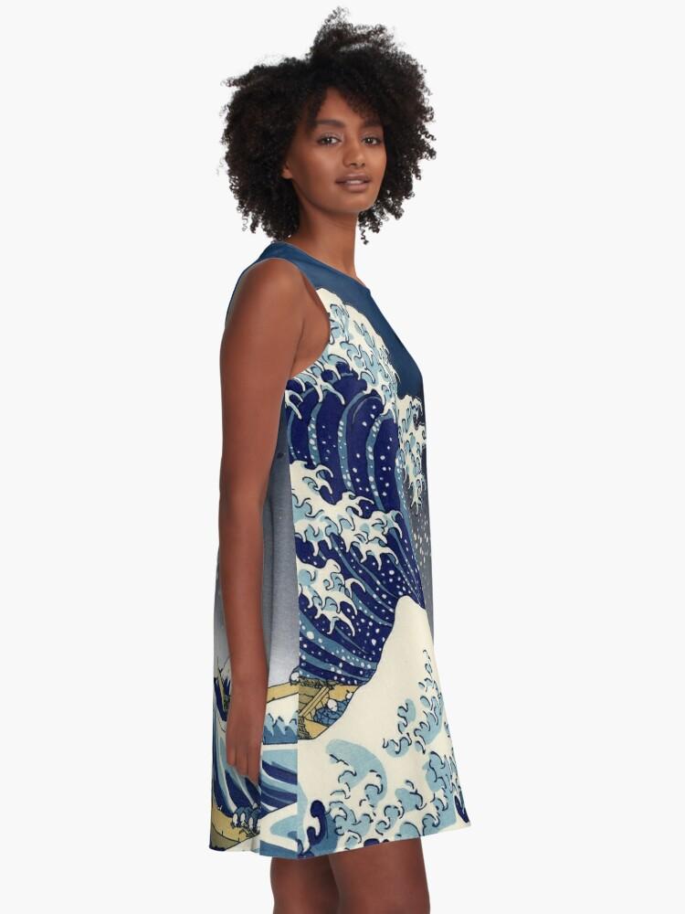 Alternate view of Great Wave: Kanagawa Night A-Line Dress