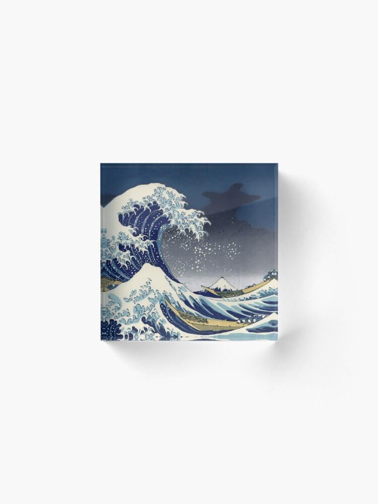 Alternate view of Great Wave: Kanagawa Night Acrylic Block