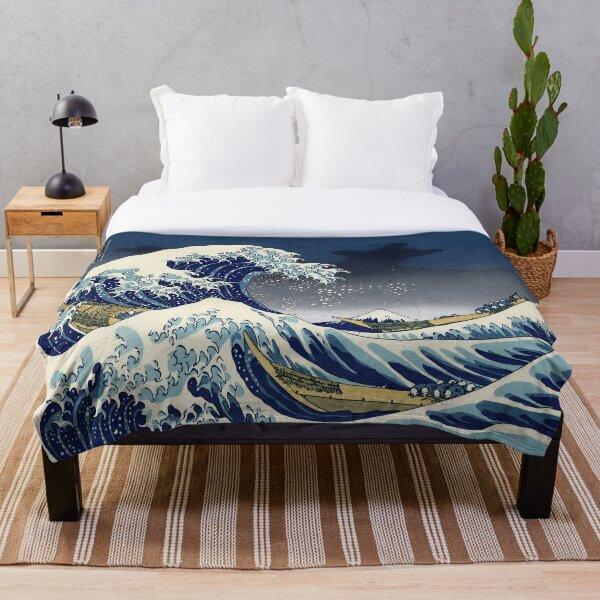 Great Wave: Kanagawa Night Throw Blanket