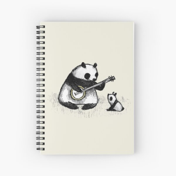 Banjo Panda Spiral Notebook