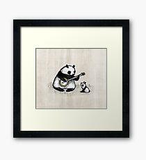 Banjo Panda Framed Print