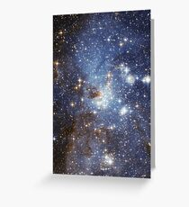 Blue Galaxy Greeting Card
