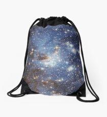 Blue Galaxy Drawstring Bag