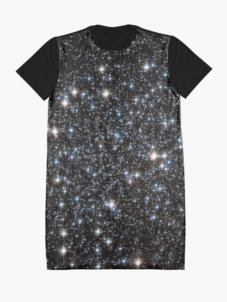 Alternate view of Glitter Galaxy Graphic T-Shirt Dress