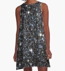 Vestido acampanado Glitter Galaxy