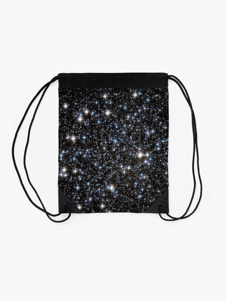Alternate view of Glitter Galaxy Drawstring Bag
