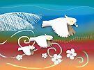 Sulphur-crested Cockatoos II by © Karin Taylor