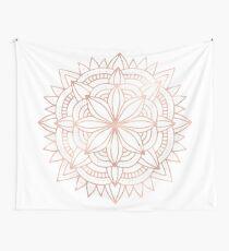 Mandala Rose Gold Pink Shine Wall Tapestry