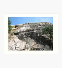 Bare sheer rockface 1 Art Print