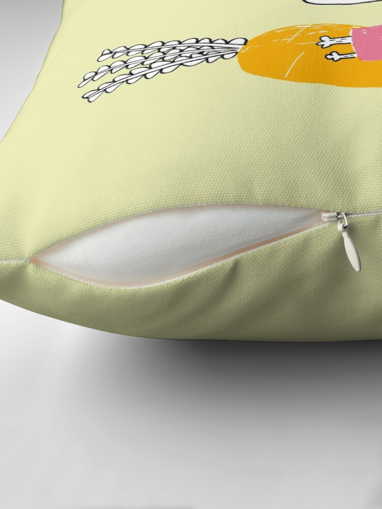 Alternate view of Rabbit Throw Pillow