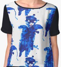 azul marino Women's Chiffon Top