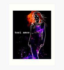Tori Amos (UG black) Art Print