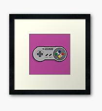 Nintendo SNES Controller Framed Print