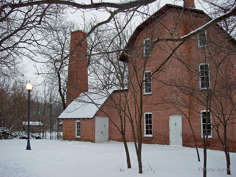 Deep River Mill in winter by Victoria Jostes
