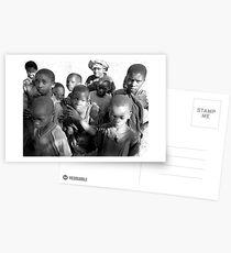 Kids play Postcards