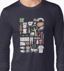 It's Always Sunny in Philadelphia Flat Lay Hand Drawn Illustration T-Shirt