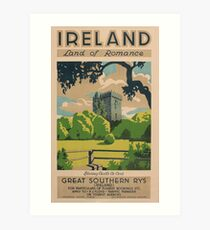 Ireland Land of Romance Art Print