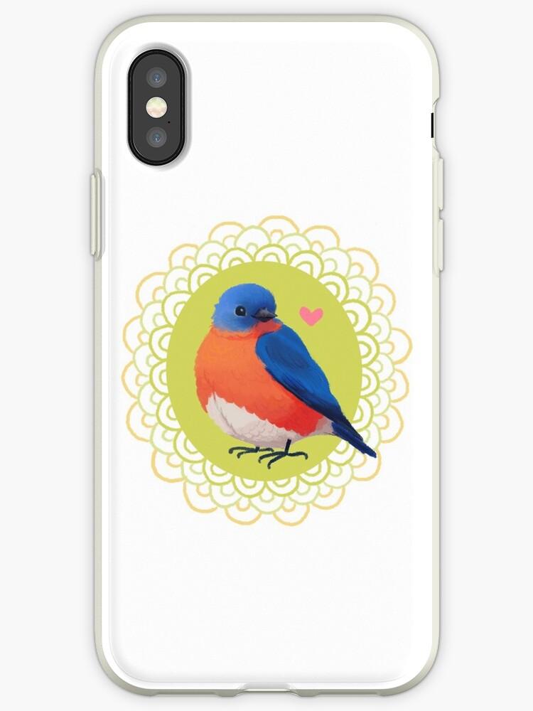 Sweet Bluebird in White by Leda Chung