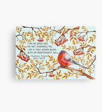 Jane Eyre Quote Metal Print