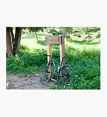 leisure cross contry cyclists bicycle Photographic Print