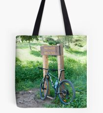 leisure cross contry cyclists bicycle Tote Bag
