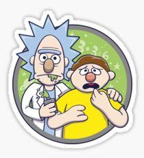 Brickt and Mortie Sticker