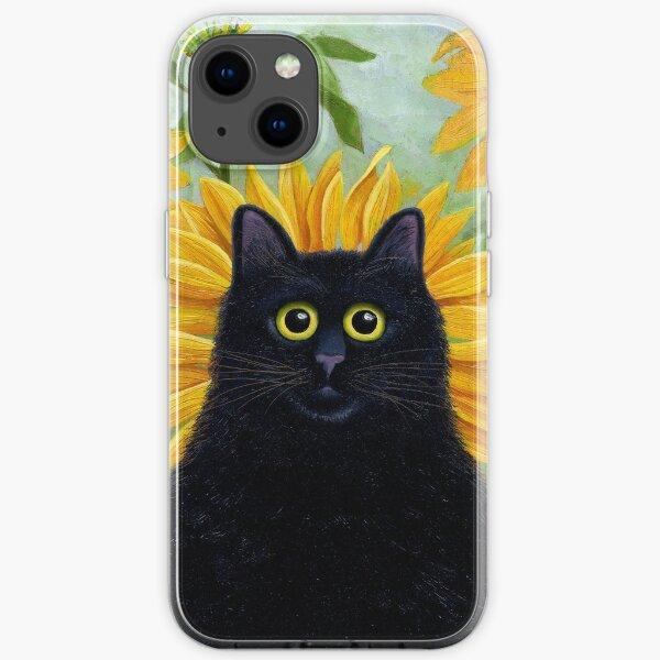 Dan de Lion with Sunflowers iPhone Soft Case