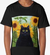 Dan de Lion with Sunflowers Long T-Shirt