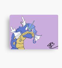 Gyarados with a closed mouth Canvas Print