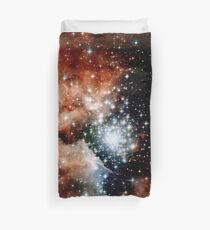 Red Galaxy Duvet Cover