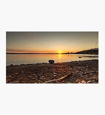 Sunset over river at Forster Photographic Print