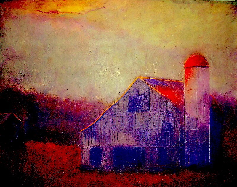 Red Roof Barn by Kent Whitaker